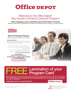 Welcome To The Office Depot Boy Scouts Of America Discount Program