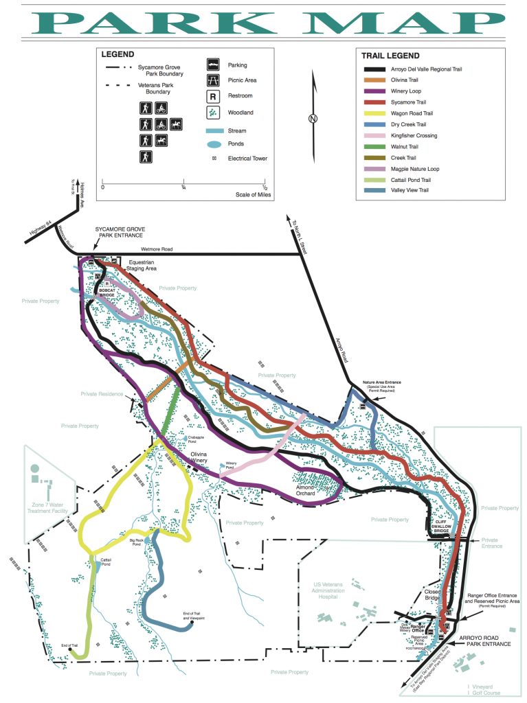 Sycamore Grove Trail Map